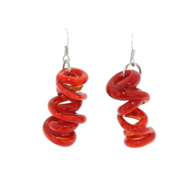SUSANNA_MARTINI_GIOIELLI_IN-VETRO_MURANO_GLASS_JEWELRY_ORECCHINI_EARRINGS_INFINITO_INFINITY_RED